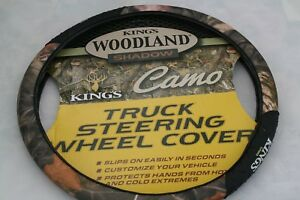 King S Camo Truck Steering Wheel Cover Woodland Shadow Fits 17 3 To 18 1