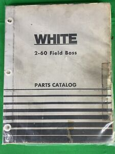 Oem White 2 60 Field Boss Tractor Parts Catalog Manual