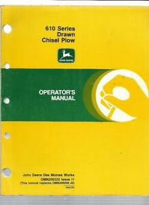 John Deere 610 Series Drawn Chisel Plow Operator s Manual Omn200322 Issue I1
