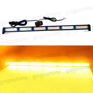 108w Cob Led Amber Traffic Advisor Emergency Hazard Warning Strobe Light Bar