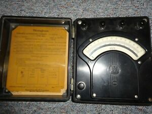 Vintage Westinghouse Portable Voltmeter Type Pa 5 Style 936242