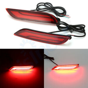 For Toyota Camry 2018 2019 Car Led Rear Warning Bumper Light Brake Rear Lights