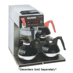 Bunn 12950 0216 Cwtf15 3 3 9 Automatic Gallons Per Hour Coffee Brewer