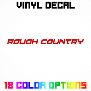 Rough Country Logo Sticker Decal
