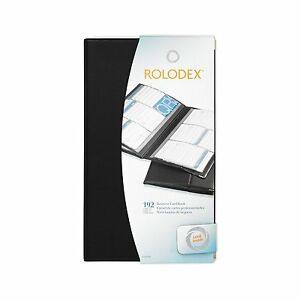 Rolodex 67465 Vinyl Business Card Book 192 card Capacity 32 Pages Black