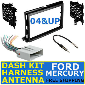 2004 Up Ford Mercury Car Radio Stereo Dash Kit Wire Harness Antenna Adapter