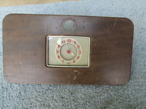 Vintage 1930 S 40 S Ford Mercury Lincoln Glove Box Door With Clock Nice