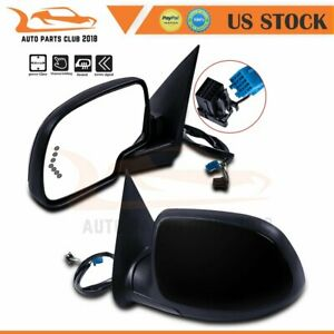 For 2003 2007 Gmc Chevy Lh rh Side Power Signal Heated Black Mirrors