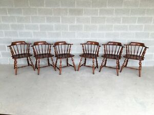 Pennsylvania House Cherry Candlelight Finish Captains Chairs Set Of 6
