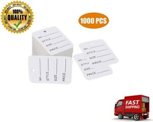 New 1000 Pcs Price Tags Clothes Size Making White Store Clothing 1 94