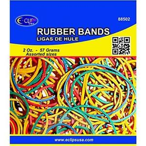 Rubber Bands 2 Oz Assorted Sizes Assorted Colors Case Pack Of 96