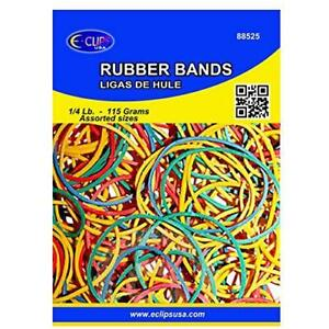 Rubber Bands 1 4 Lbs Assorted Sizes Assorted Colors Case Pack Of 72