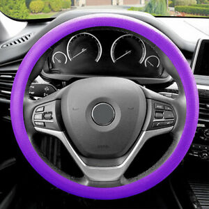 Steering Wheel Cover Snake Pattern Silicone Purple Color Fits 14 5 15 5