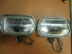 Lucas Ft8 Square Eight Fog Lamp Pair Shelby Mustang Correct Nos Lenses