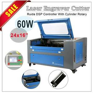 Co2 Laser Engraver Cutter 60w 16x24 W Rotary Red Dot Pointer Usb u flash pc