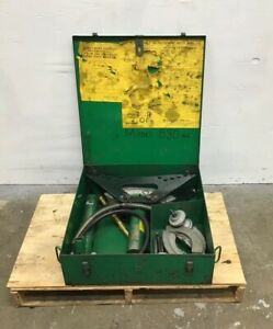 Greenlee No 880 1 2 Thru 2 One shot Hydraulic Bender