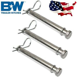 B W Hitches Set Of 3 Stainless Steel Pins For 2 2 5inch Shank Tow Stow Hitches