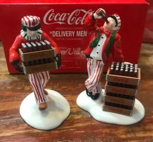 Dept 56 Snow Village- Coca Cola - Delivery Man Set of 2 Accessories - NIB (b)