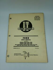 I t Ford Fordson Super Major Diesel Power 5000 Tractor Shop Service Manual Fo 21