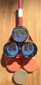 Retro Ray Surveying Triple Prism Assembly W Case And Omni Prisms