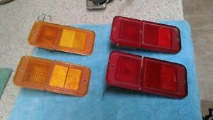 1967 1972 Chevy Truck Parts Lights With Reflectors Trim Original Vintage
