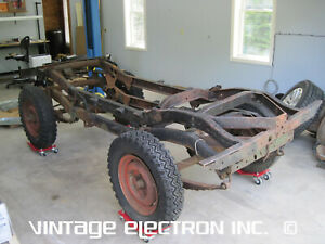 1949 1950 1951 1952 1953 Willys Jeep Cj 3a Bare Chassis Frame Top