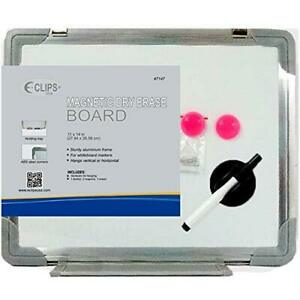 White Magnetic Board 11 x 14 Includes 1 Marker 2 Magnets 1 Eraser Pack Of 24