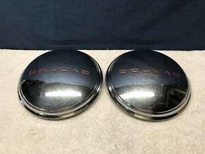 2 Vintage 1940 S 50 S Pontiac Deluxe Replacement Aftermarket Dog Dish Hubcaps