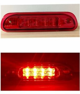 Fit For 99 04 Jeep Grand Cherokee Third Brake Light 3rd Rear Roof Lamp Red