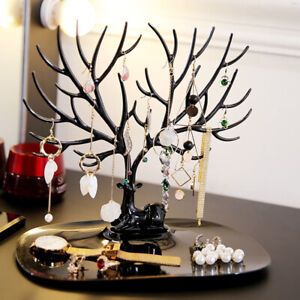 1x Jewelry Necklace Earring Tree Display Hanger Rack Stand Ring Organizer Holder