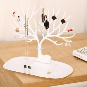 1p Jewelry Necklace Earring Tree Display Hanger Rack Stand Organizer Ring Holder