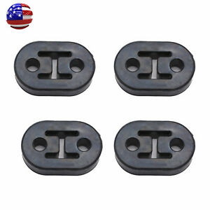 4pcs Heavy Duty Rubber Exhaust Tail Pipe Mount Bracket Hanger Bushing Insulator