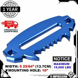 10 Blue Hawse Fairlead 15000lbs For Synthetic Winch Rope Devil Monster Design
