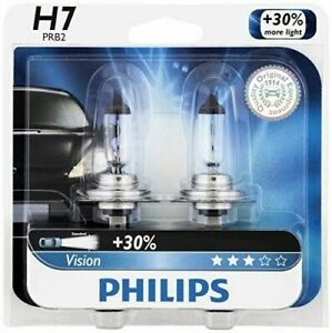2x Philips H7 Upgrade Super Bright Vision Halogen More Light 55w Germany Bulb