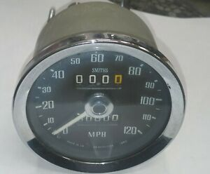 Factory Original Smiths 1280 Mgb Mph Gauge Sn5230 065 With Cable