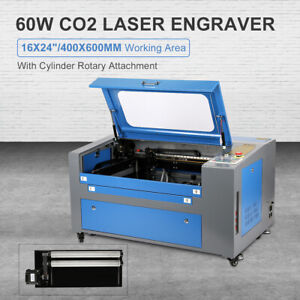 16x24 400x600mm Co2 Laser Engraver Laser Cutter 60w W Rotary Red Dot Pointer