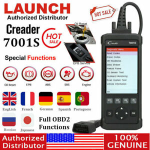 Launch X431 Cr7001s Obd2 Scanner Auto Diagnostic Tool Car Code Reader As Crp129e