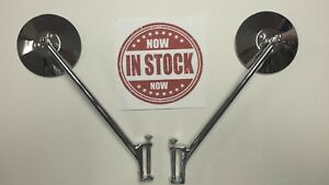 1937 Ford Pick Up Pu Truck Hinge Pin Mirror Chrome Stainless High Quality Pair