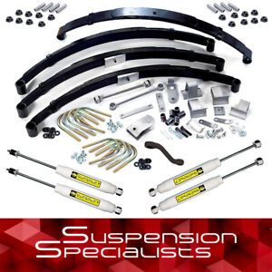 Superlift 3 5 Lift Kit W Leaf Springs Shocks For 1987 1996 Jeep Wrangler Yj
