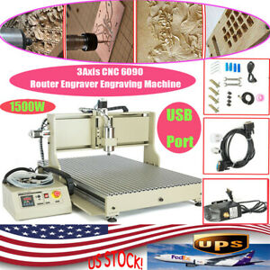 Usb 1 5kw 3axis Cnc 6090 Router Engraver Woodworking Advertising Milling Machine