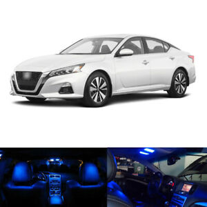 11 X Blue Led Interior Package License Plate Lights For 2019 2020 Nissan Altima