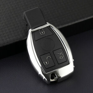 For Mercedes Benz Car Silver Tpu Smart Key Case Soft Protector Cover Accessories