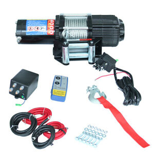 4000lbs 12V Portable ATV Electric Winch Wire Rope