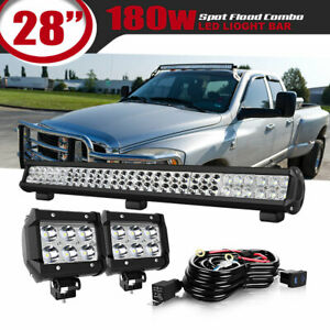 28inch 180w Led Light Bar Offroad Work Lamp Spot Flood Combo For Off Road 30 Wm