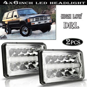 Dot 4x6 inch Led Headlight Hi lo For Ford Vw Scirocco 1982 1988 Truck
