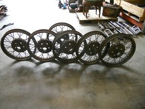 Model A Ford Wire Wheels 21 Quantity Of 6 As A Package