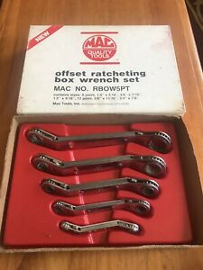 Mac Tools Offset Ratcheting Box Wrench Set No Rbow5pt