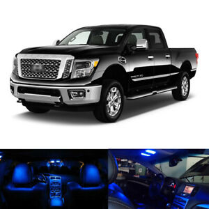 14 X Blue Led Interior Package License Plate Lights For 2016 2018 2019 Titan Xd