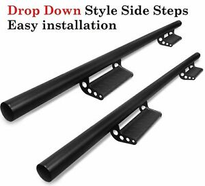 Fit 15 21 Chevy Colorado Canyon Crew Cab Steps Running Boards Drop Black