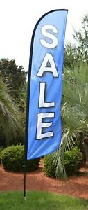 Sale Feather Windless Business Flag Pole Stake Kit Advertising Free Shipping